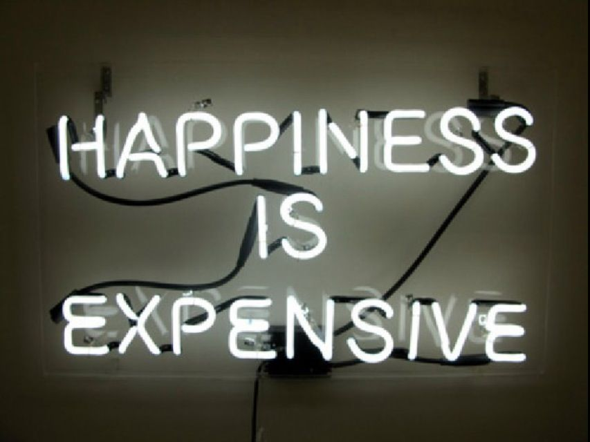 """""""Happiness Is Expensive"""""""