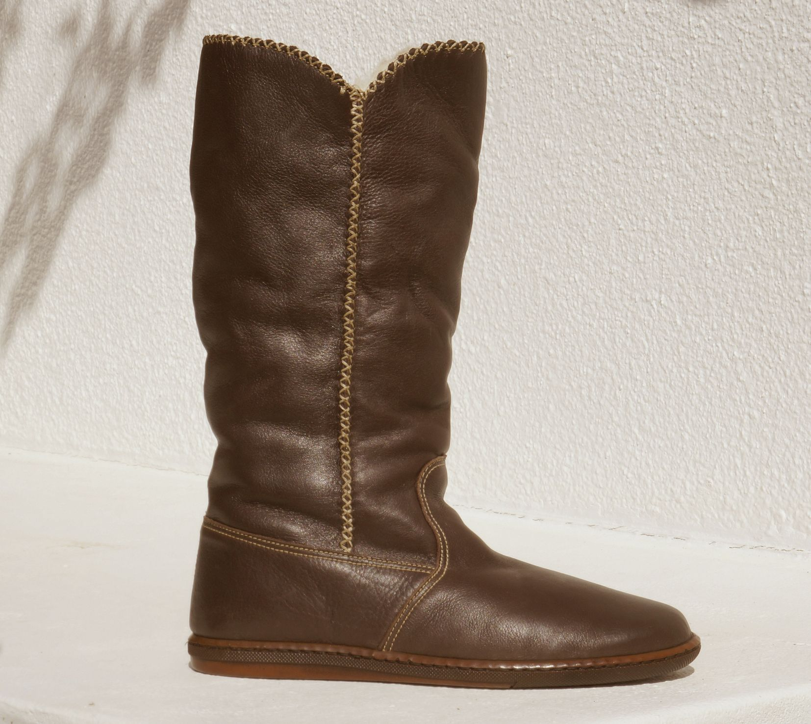 e5c7d395 Tsonga Zontathu Genuine Leather Fur Lined, Long Boot Handcrafted in South  Africa Code: TLZG022 001