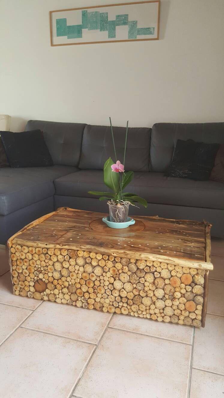 Table en bois flott table d appoint bois flott basse Meuble en bois flotte