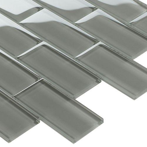 subway glass tile smoke grey 2x4