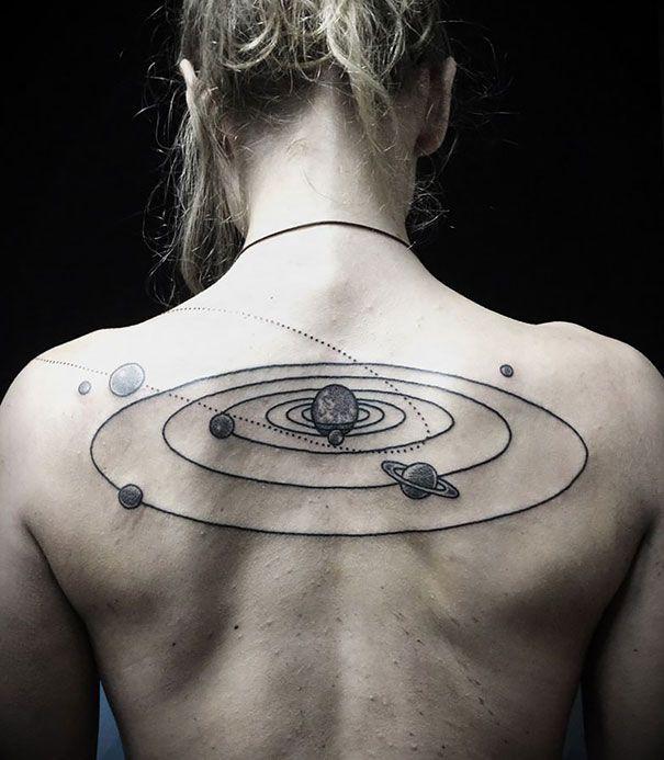 30 tatouages spatiaux et cosmiques | tatouages - body painting