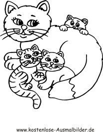 Ausmalbild Katzenfamilie 131 Malvorlage Katzen Ausmalbilder