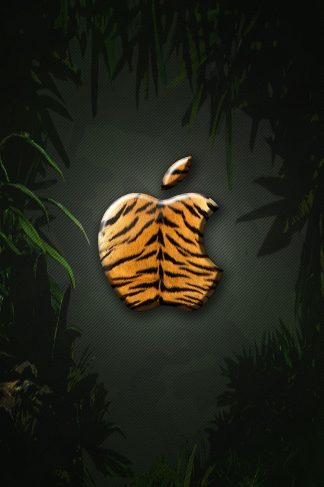 Iphone Wallpaper Tiger By Laggydogg Apple Logo Wallpaper