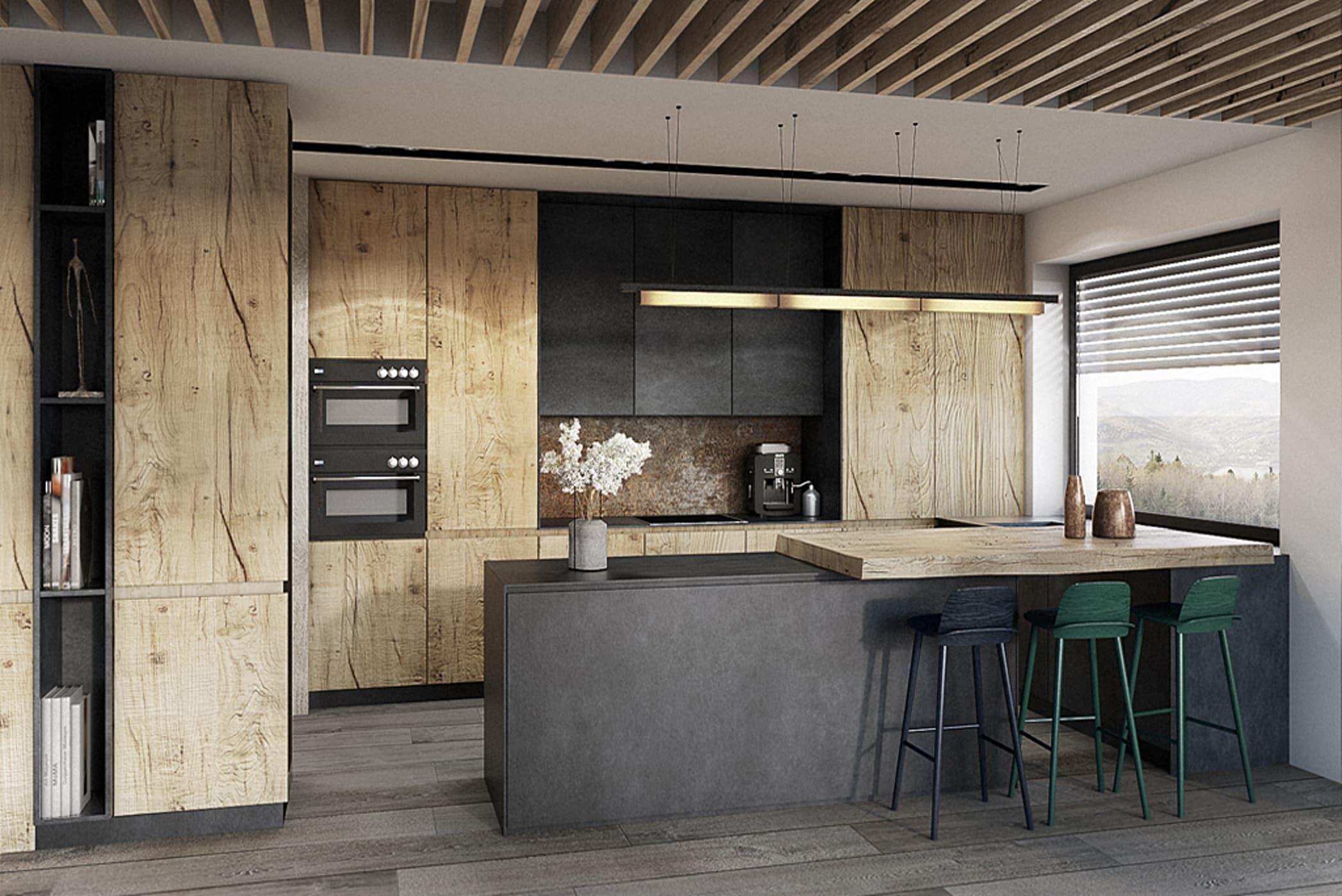 Cuisine de style par razoo-architekci | redhouse | Kitchen, Interior ...
