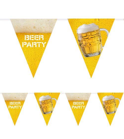 Oktoberfest Wimpelkette Motiv Bierkrug Länge 6 m Dekoration Bayern Party