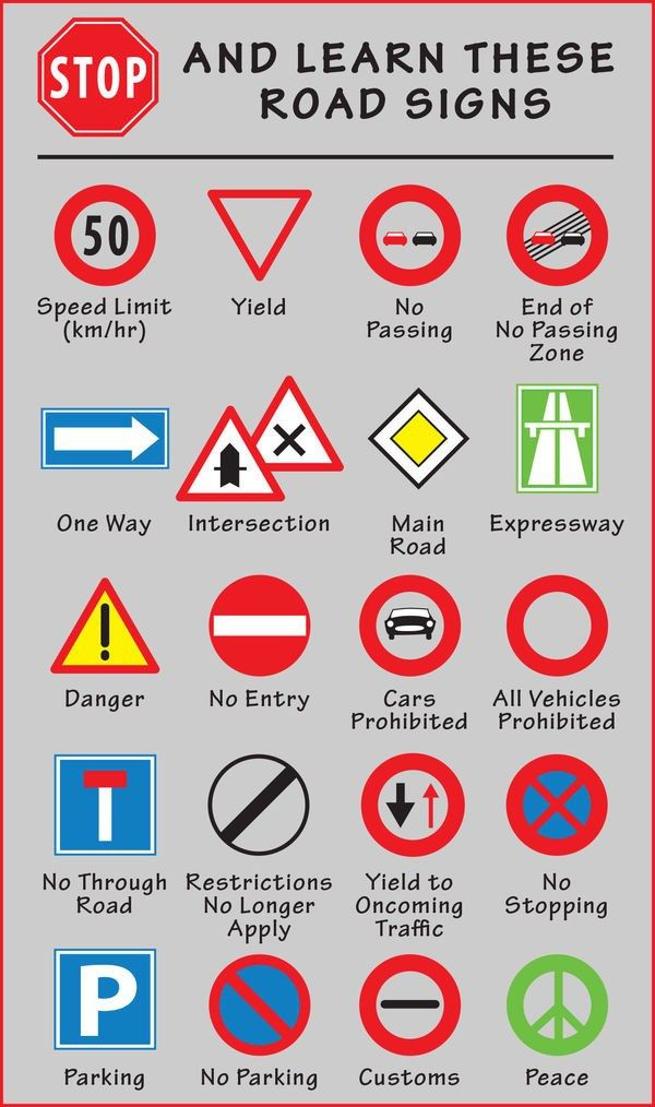 Driving In Europe Signs Symbols And Parking Symbols And Travel