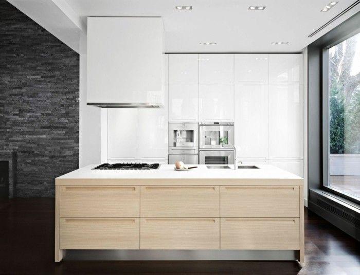 küchenfronten austauschen online finden minimalistisch modern holz ...
