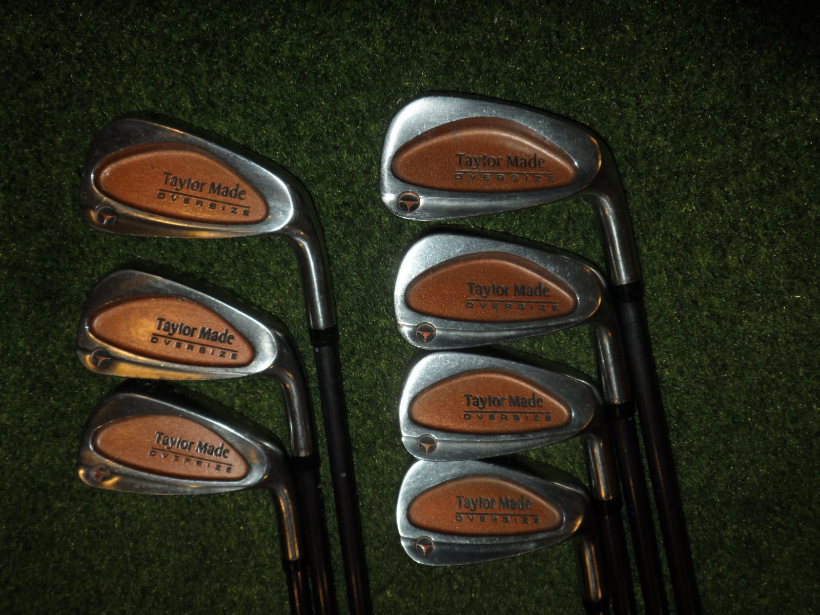 GREAT TAYLORMADE GOLF CLUBS BURNER OVERSIZE IRONS BUBBLE REGULAR PLUS SHAFTS