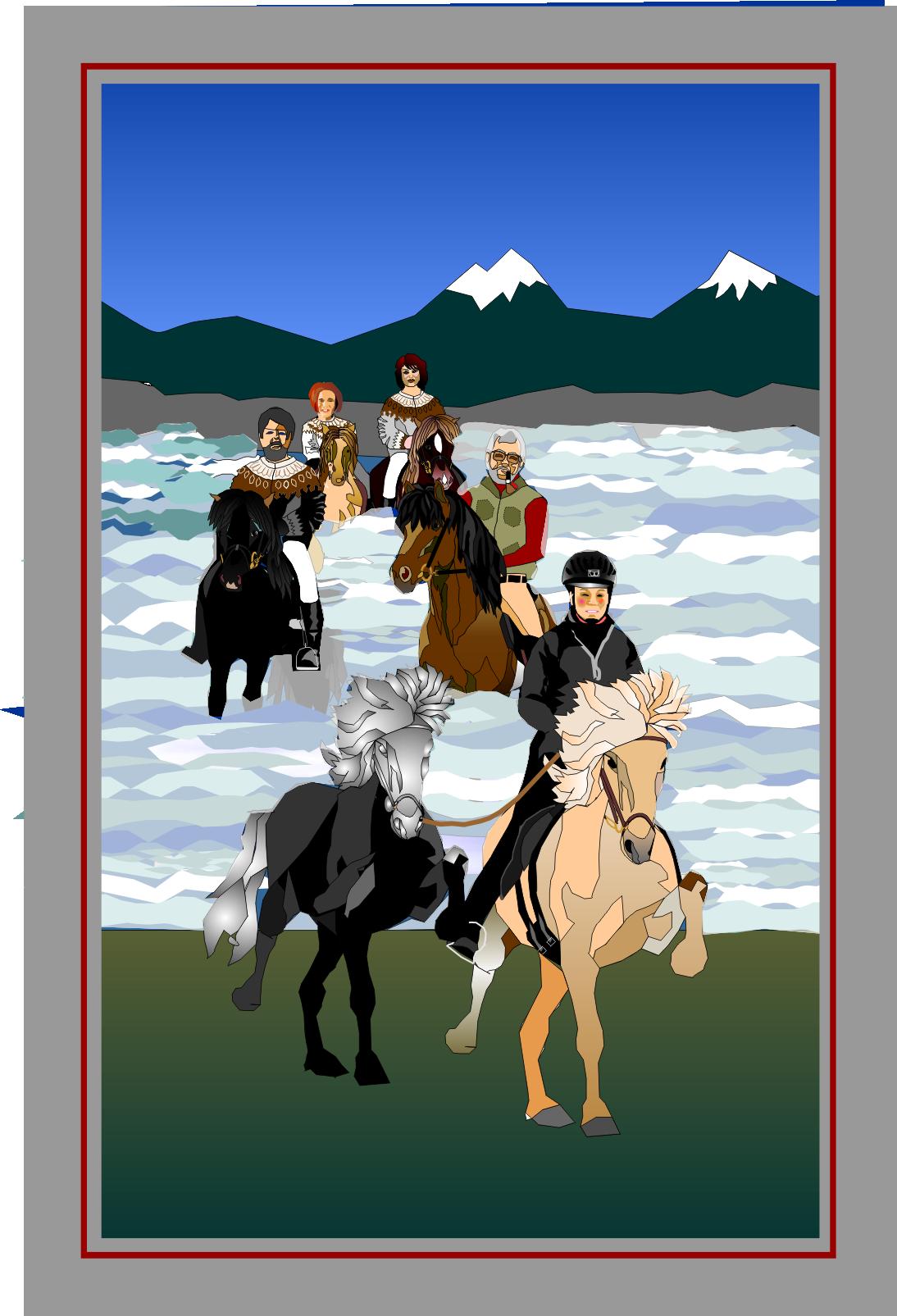 het paard verving jarenlang de bruggen op ijsland, want er waren veel te veel rivieren om over te steken en te weinig bruggen. maar paarden zat.