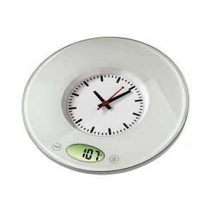 Xavax Pauliine Kitchen Scale With Clock Safety Glass Clock Kitchen