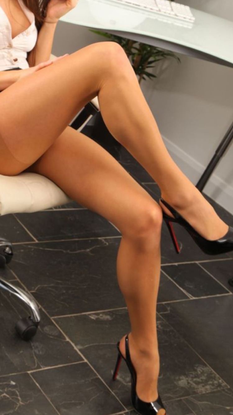 My wifes legs in pantyhose