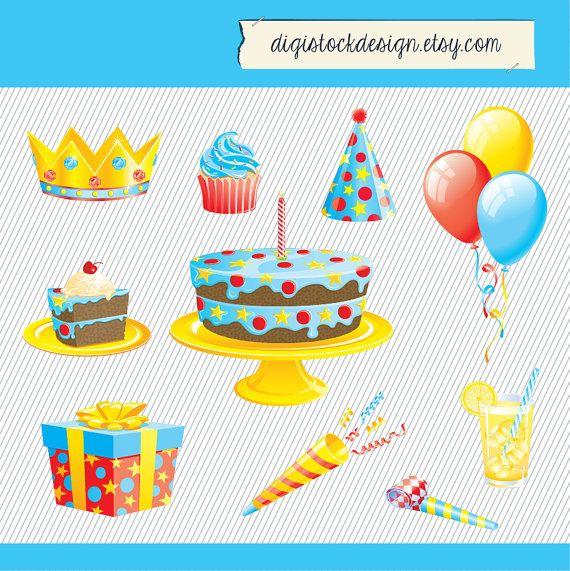 Birthday Clipart Birthday Element Clipart Happy Birthday