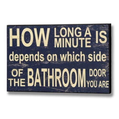 Bathroom Sanitation Signs: Humorous Wall Hanging Loo