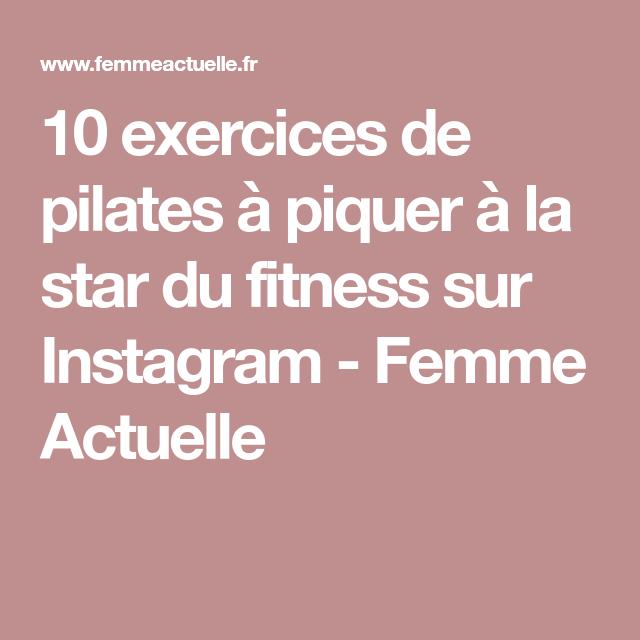 c12bff5a5d209 10 exercices de pilates à piquer à la star du fitness sur Instagram | Sport  | Pilates et Sports