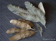 tuto plumes en papier rose gris tutoriels plumes en papier plumes en papier. Black Bedroom Furniture Sets. Home Design Ideas