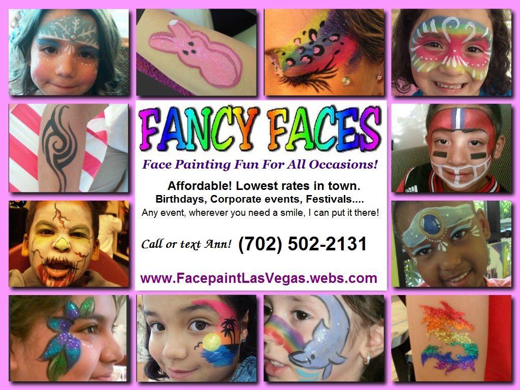 Face Paint Business Card Idea
