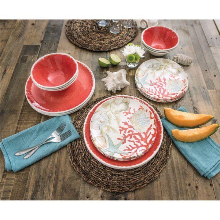 Sam\u0027s Club - 18-Piece Melamine Dinnerware Set (Assorted Colors)  sc 1 st  Pinterest & Sam\u0027s Club - 18-Piece Melamine Dinnerware Set (Assorted Colors ...
