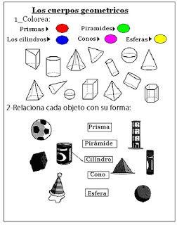 Educando Con Amor Cuerpos Geometricos Con Imagenes Figuras Y