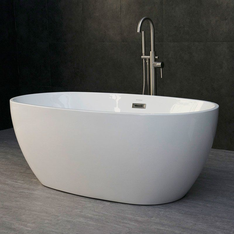 Orren Ellis Higgenbotham 59 X 31 Freestanding Soaking Bathtub Reviews Wayfair Free Standing Bath Tub Free Standing Tub Bathtub