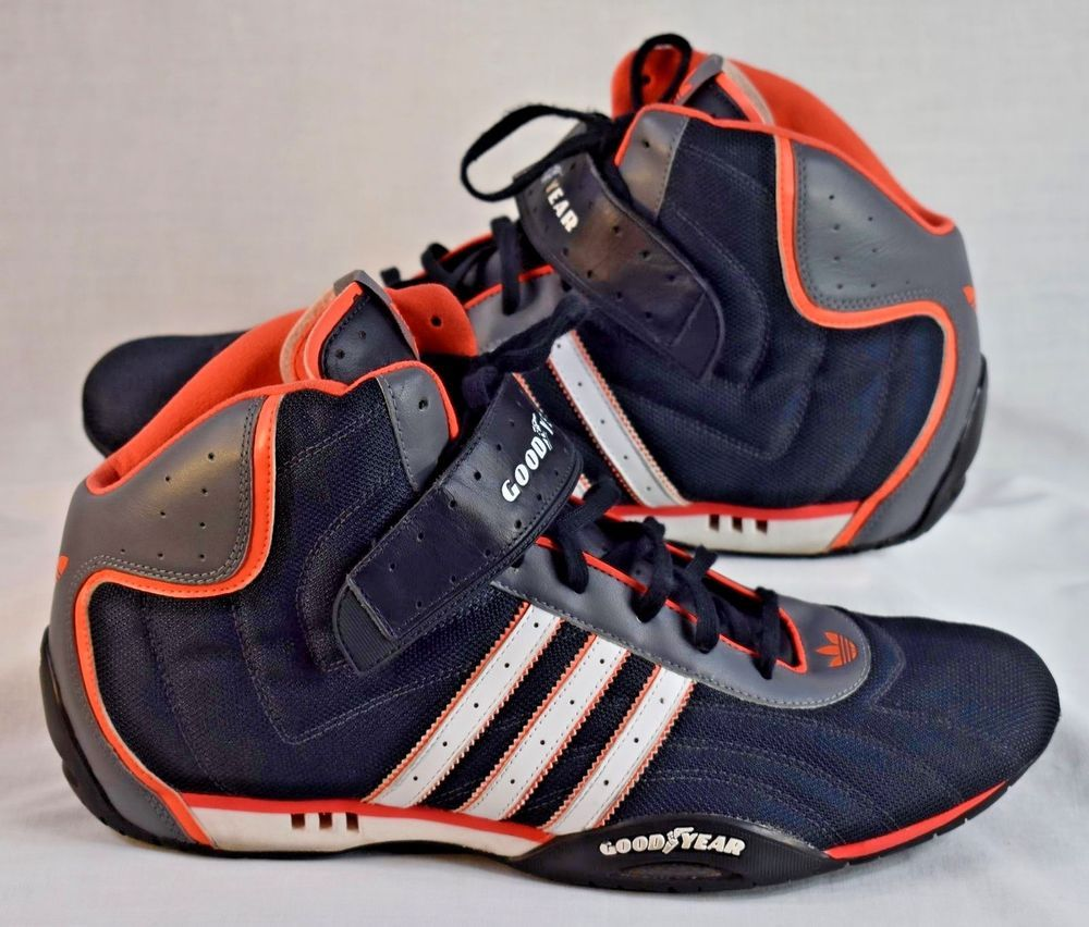 official photos 49a2f 385f7 GOODYEAR Adidas Hi Top Racing Shoes Size 14  Adidas  HiTops