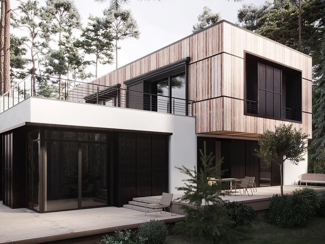Millennium Architects On Instagram Visualization Millennium Architects Corona Render Photoshop Forest House Corona Render Architect