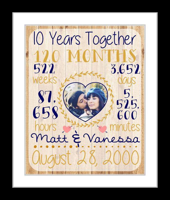 S 10 Jahr Jubiläumsgeschenk Für Freund Ehemann Ehefrau