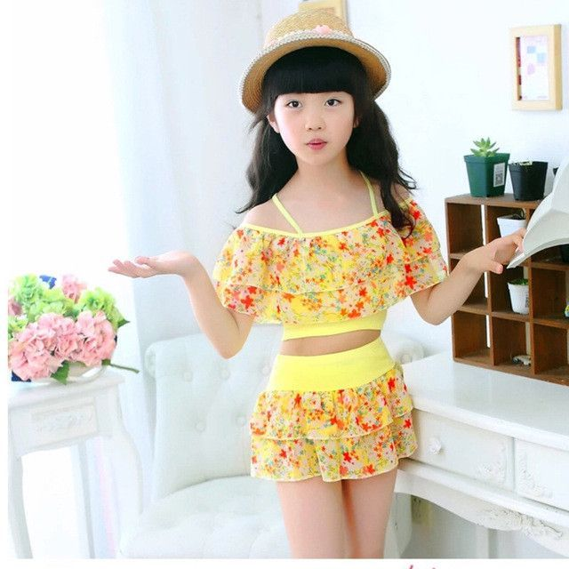 2017 Latest Bikini Swimwear Girl Children Swimsuit Children Swimming