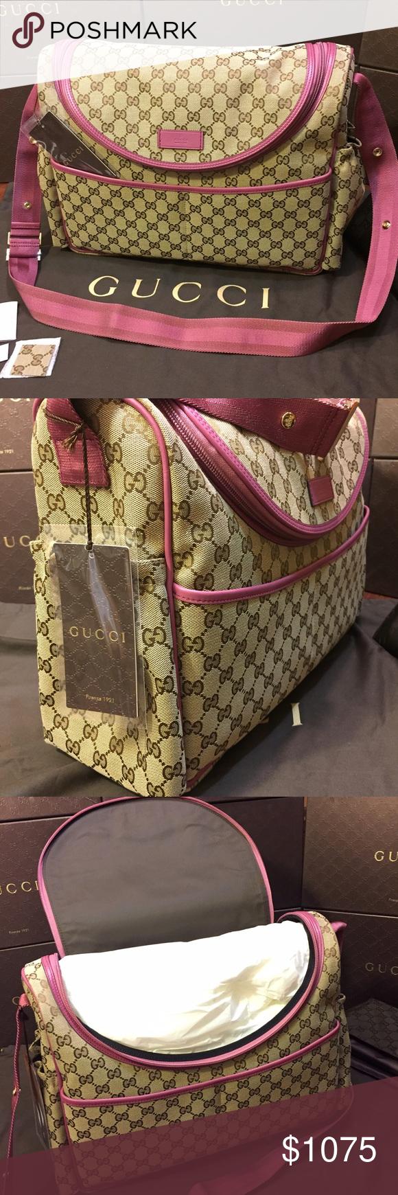 9c1c786621f9 Gucci Baby Girl Diaper Bag Original GG Canvas New with tags. Gucci Original  GG Canvas