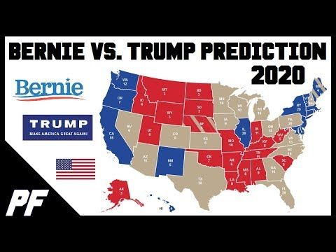Bernie Sanders vs  Donald Trump 2020 Map Prediction - 2020 E