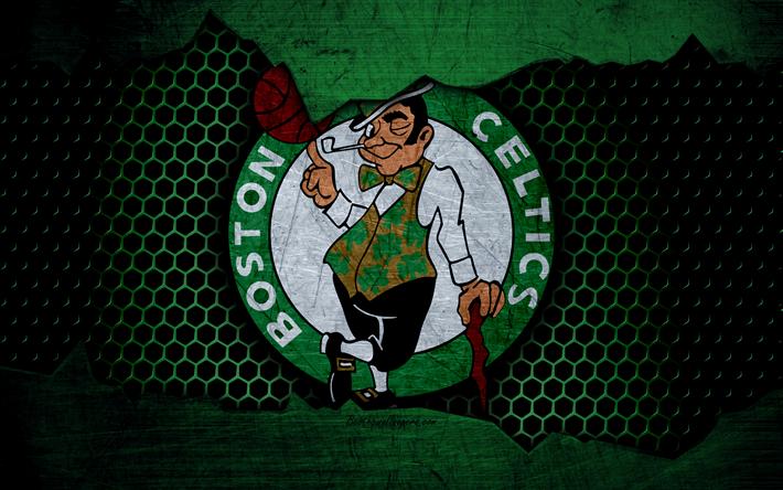 Download wallpapers Boston Celtics, 4k, logo, NBA