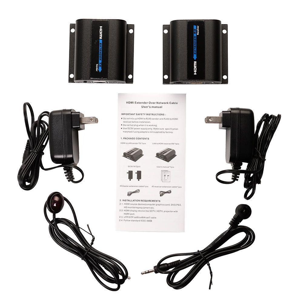 Nuovo HDMI 1080 P LKV372A Rete Convertitore HDMI Extender Trasmettitore e Ricevitore IR sopra Cat6/Cat7 Cavo Singolo FHD trasmissione