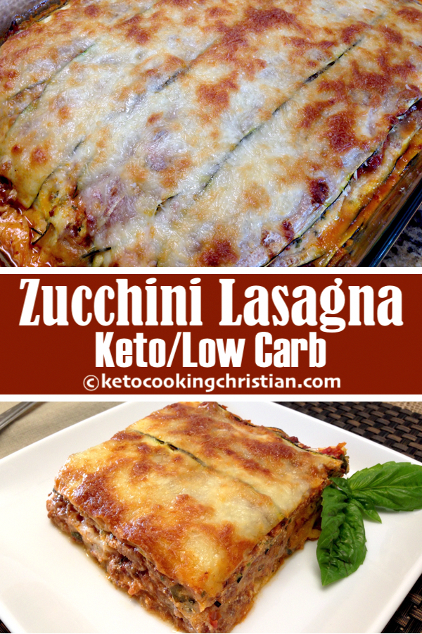 Zucchini Lasagna - Keto and Low Carb All the flavors of lasagna made into a heathly low carb version and baked to cheesy perfection!