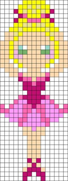 Pixel Art Ballet Google Search Perler Bead Patterns Beading Patterns Hama Beads Patterns