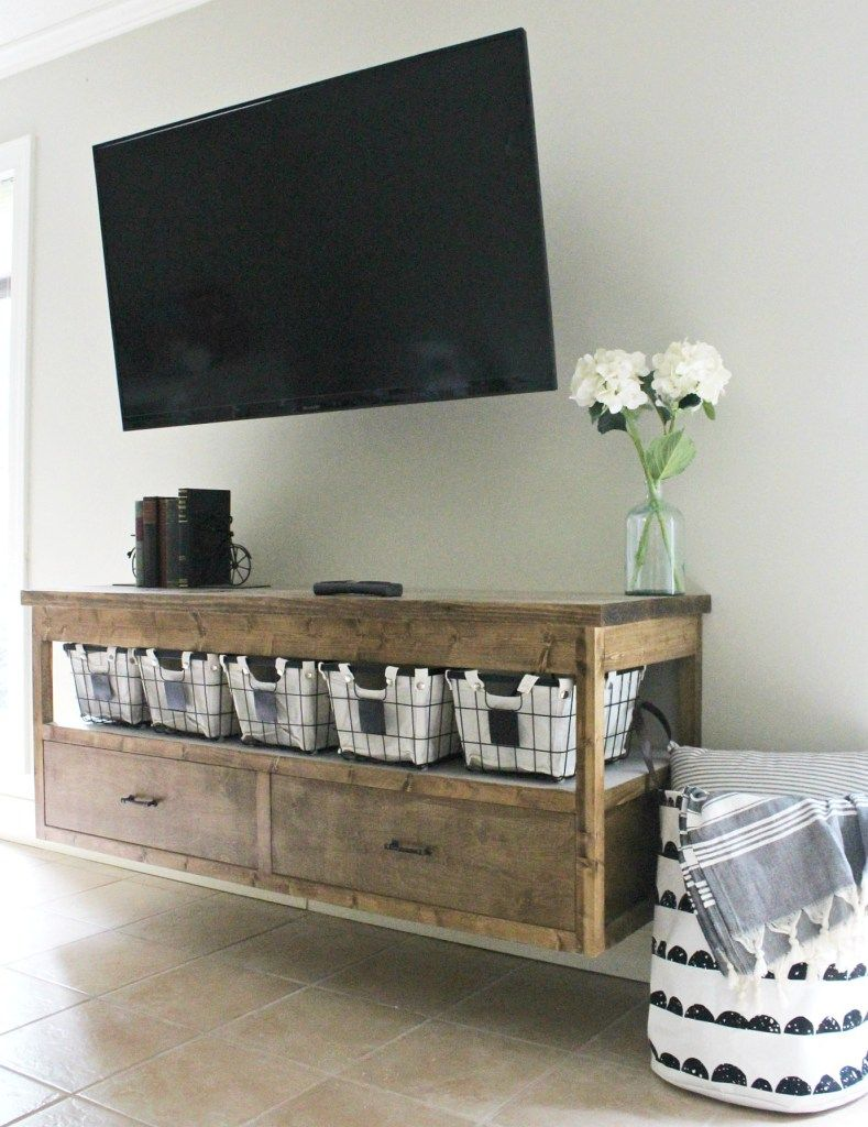 How To Build A Diy Modern Floating Vanity Or Tv Console