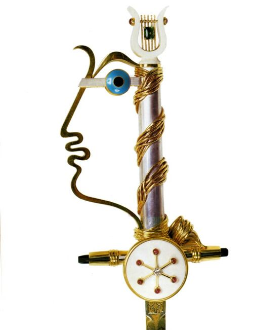idontcurate-icoordinate:Cartier academician sword handle made for Jean Cocteau,1955.