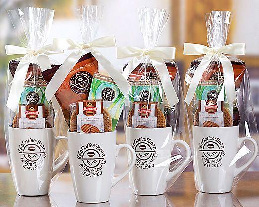 The Coffee Bean Tea Leaf Gift Mugs 4 Pack Gift Basket Item No 358 Gifts In A Mug Tea Leaves Mugs