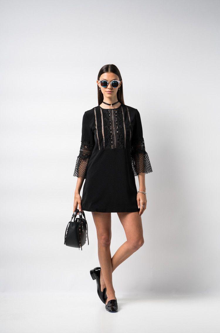 After Party Vintage Brit Lace Dress FW0080