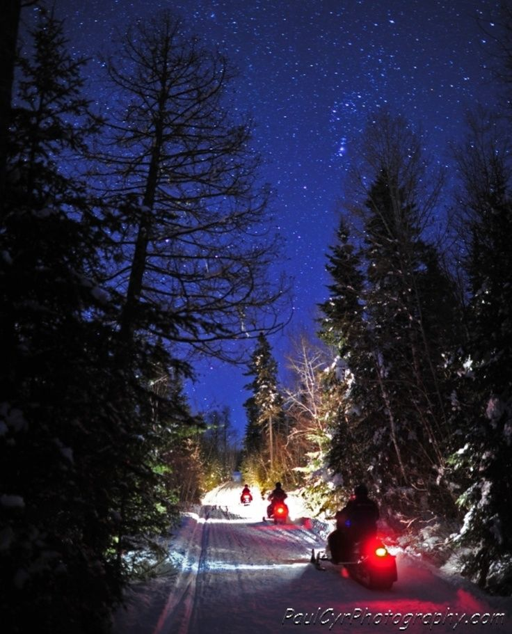 A Starry Snowmobile Ride in Northern Maine. Paul Cyr