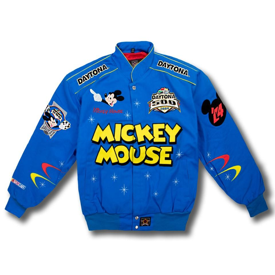 Mickey Mouse Nascar Jacket Blue Nascar Jackets Mickey Mouse Jacket Nascar