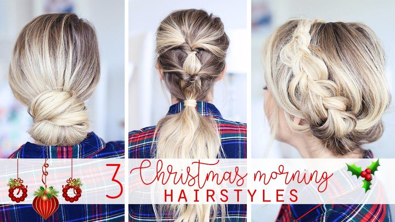 christmas morning hairstyles hair pinterest