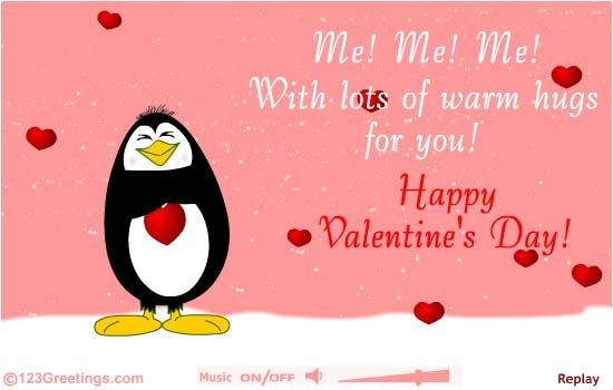 send across warm hugs to your loved ones on valentines day with this cute ecard free online valentines day hugs ecards on valentines day