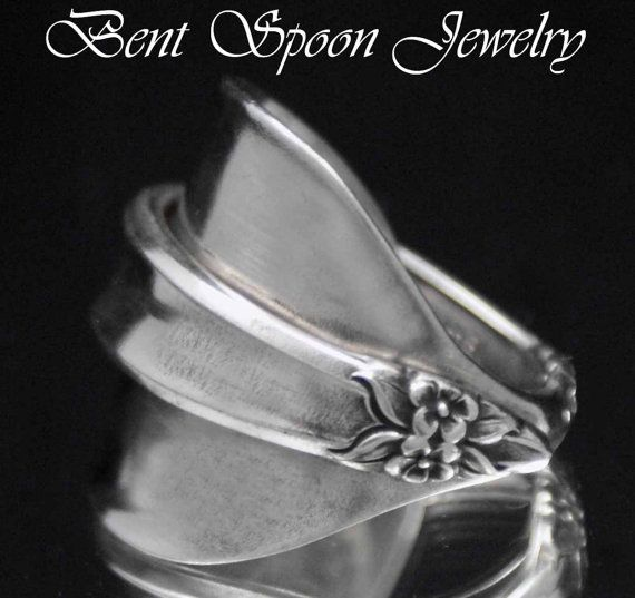 Sterling Spoon Ring Silverware Jewelry by Bentspoonjewelry on Etsy