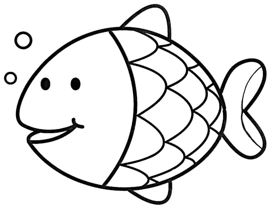 Easy Coloring Pages Easy Coloring Pages Preschool Coloring Pages Fish Coloring Page
