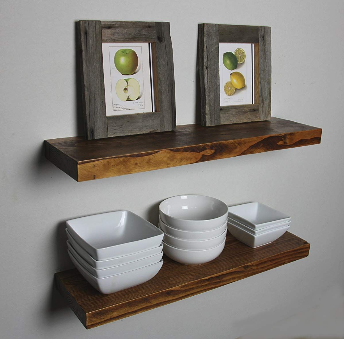 Rustic Deep Floating Shelves Walnut Floating Shelves Floating Shelves Kitchen Ikea Floating Shelves