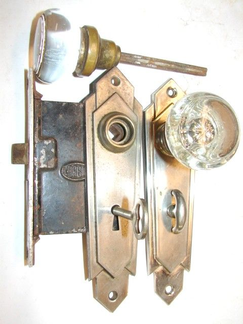 Exceptional Glass Door Knob Sets Hardware Antique Restoration Old Original Period  Doorknobs Parts Victorian