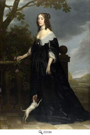 Painting Reproduction of Elizabeth Stuart, Queen of Bohemia, Gerrit Van Honthorst