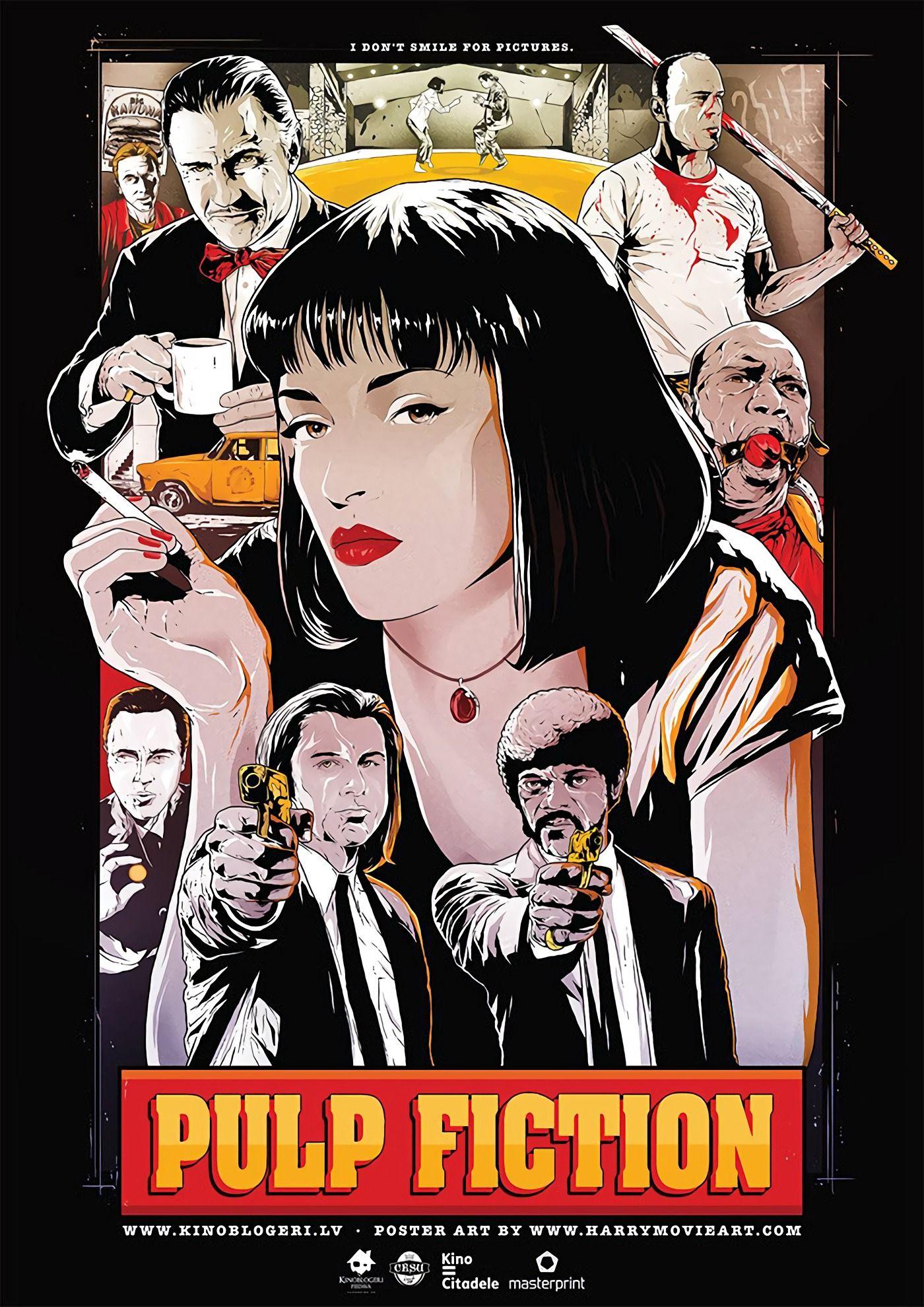 Pulp Fiction 1994 1400 X 1980 Posteres De Filmes Cartazes De Filmes Famosos Pulp Fiction