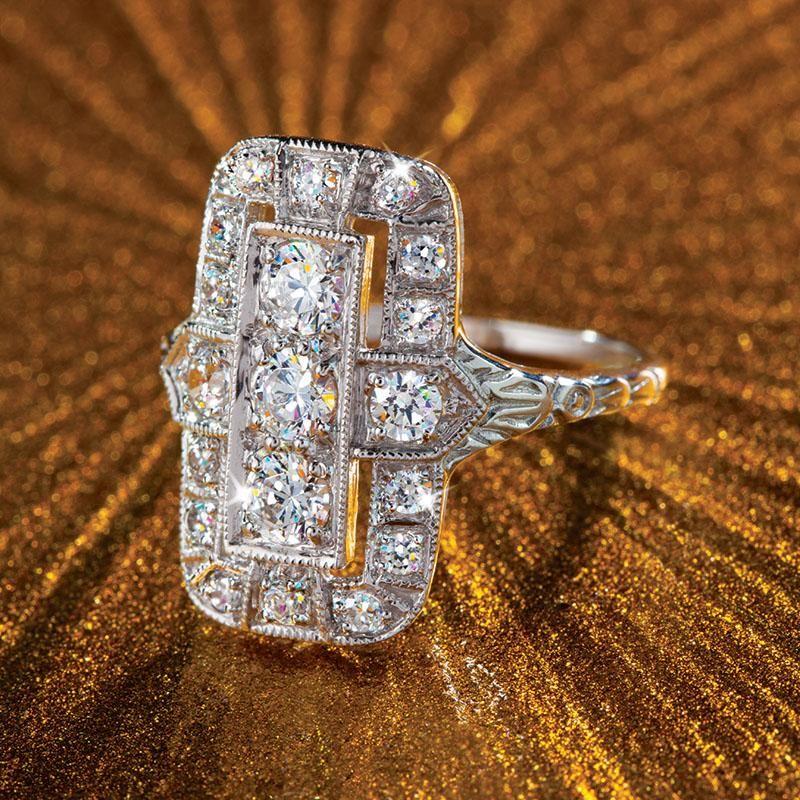 Stauer Jewelry Rings >> DiamondAura® Outré Ring w6366 | Stauer.com | Stauer Jewelry | Jewelry, Rings, Fashion rings