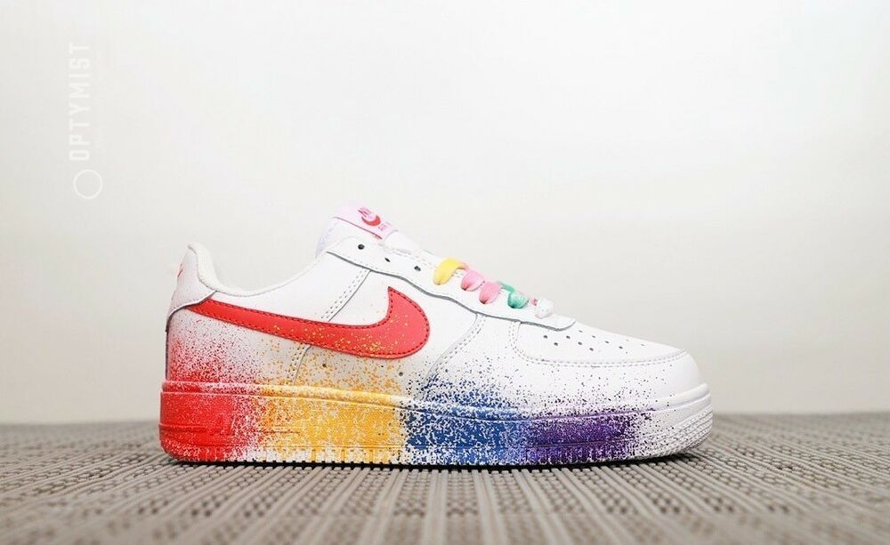 Nike Air Force 1 Low Id Rainbow Base Limited Edition Nike Air Nike Air Force Nike