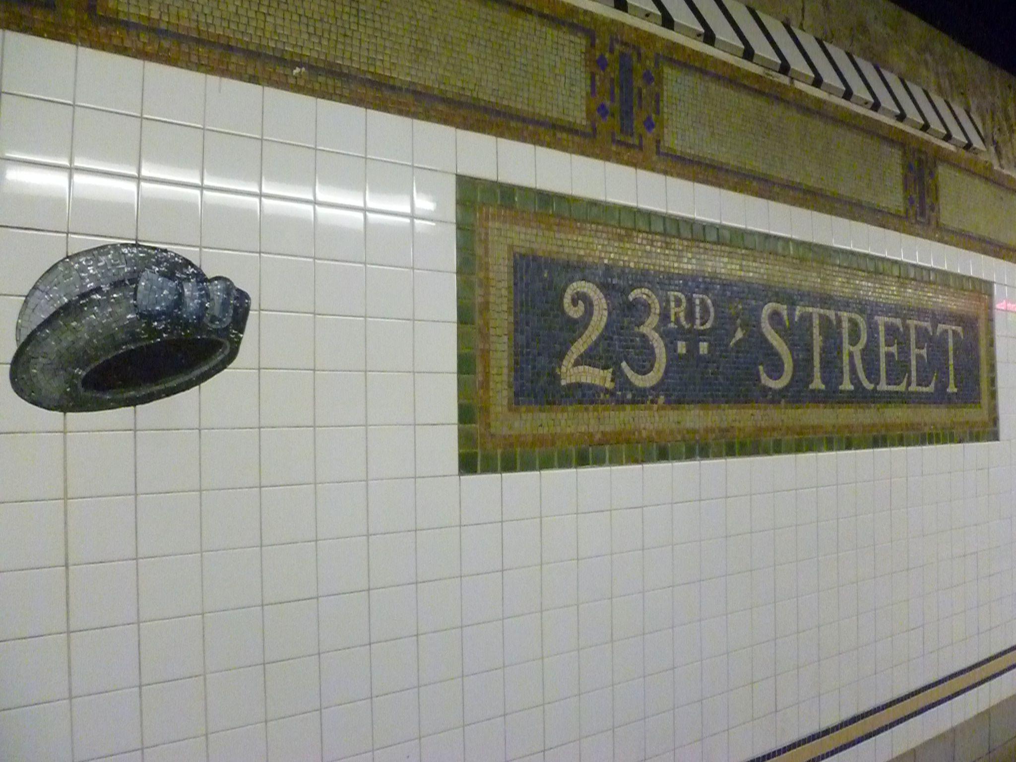 23rd street subway art